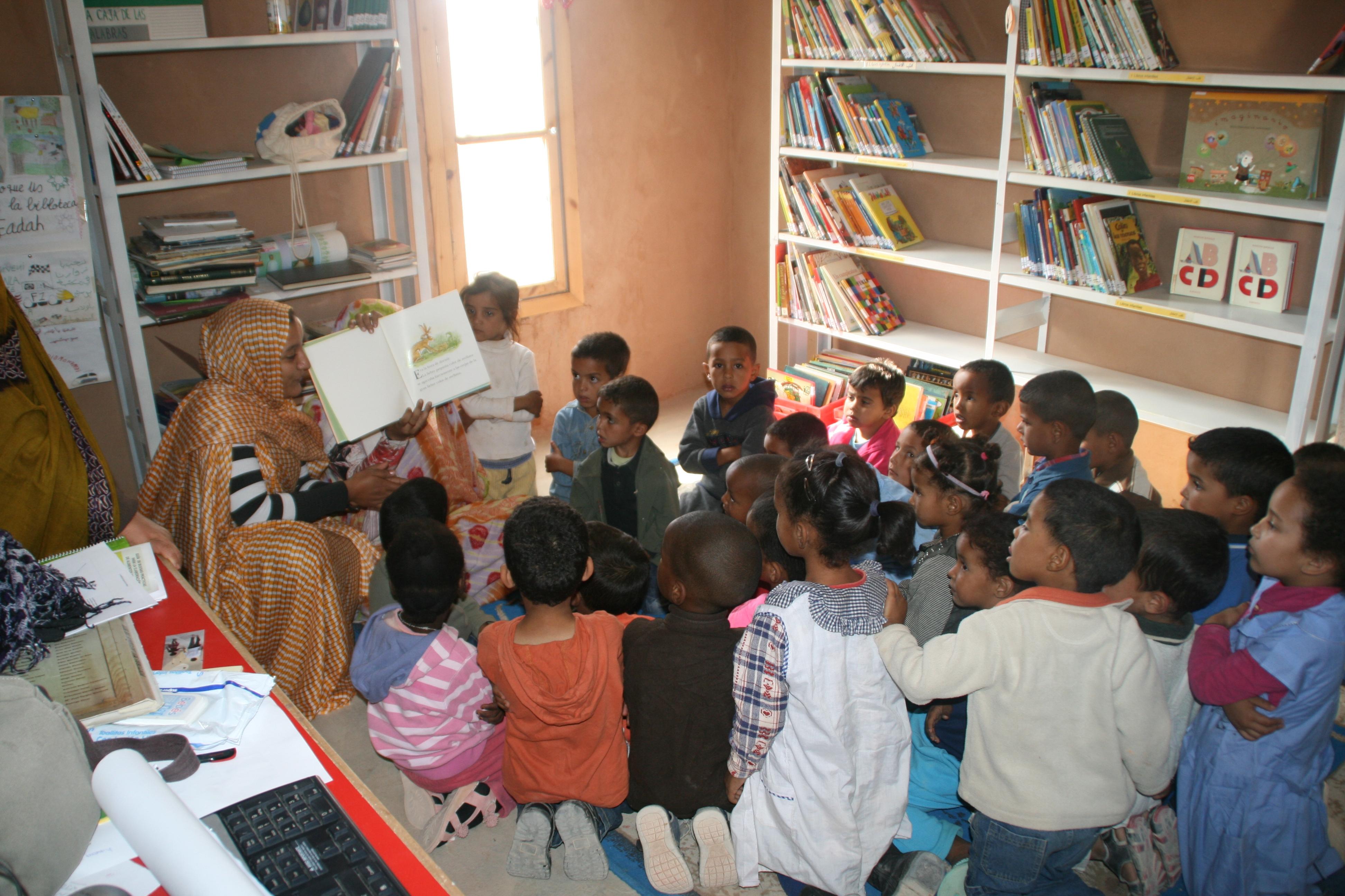 Club de lectura en el Nido de Smara