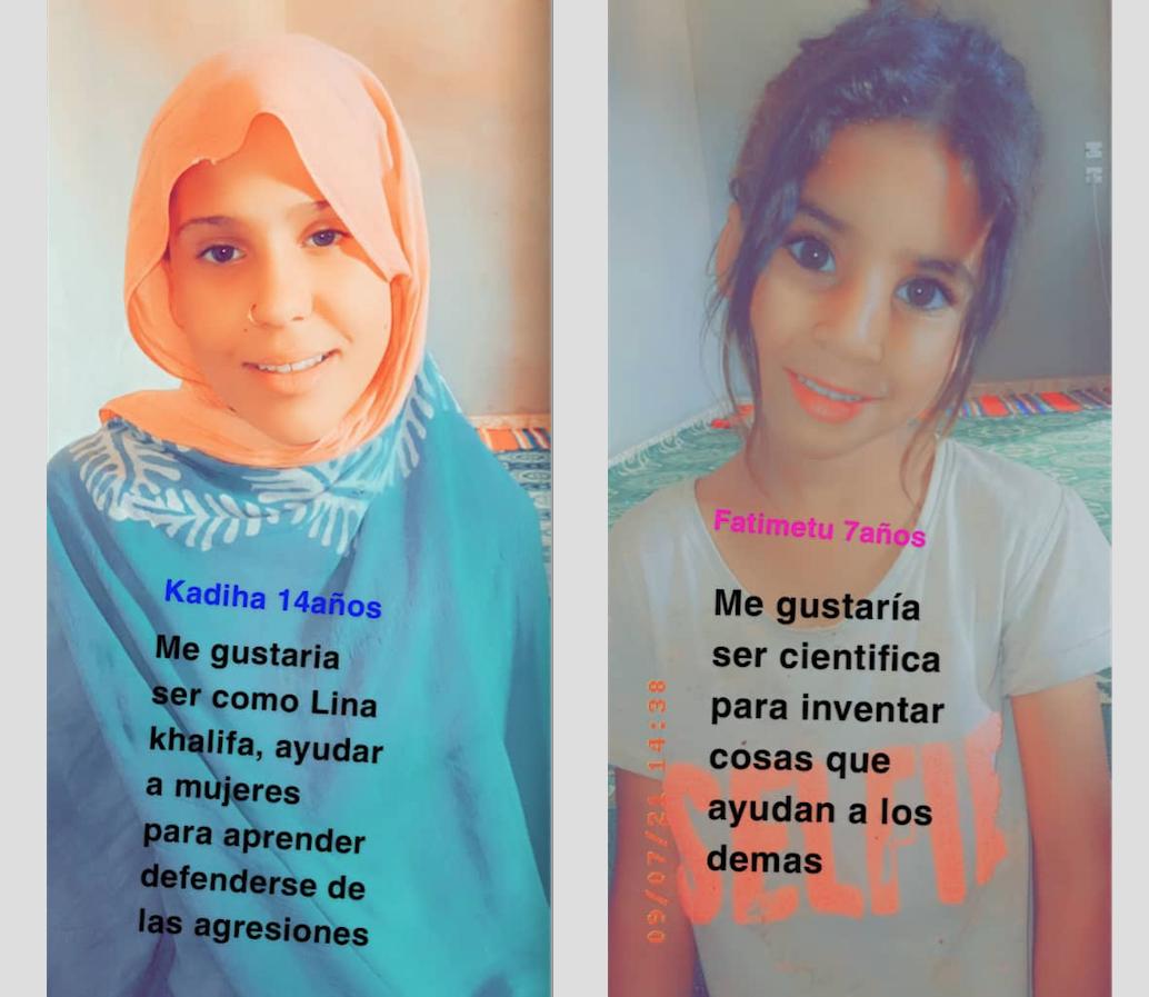 REFLEXIONES DE NIÑAS SAHARAUIS